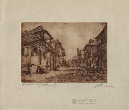 Józef Pieniążek, Krzemieniec. Domy przy ulicy Kładkowej