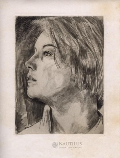 Willy Jaeckel, Madchenbildnis [Portret dziewczyny]