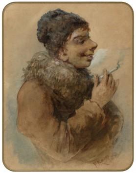 Chłopiec z papierosem, 1897