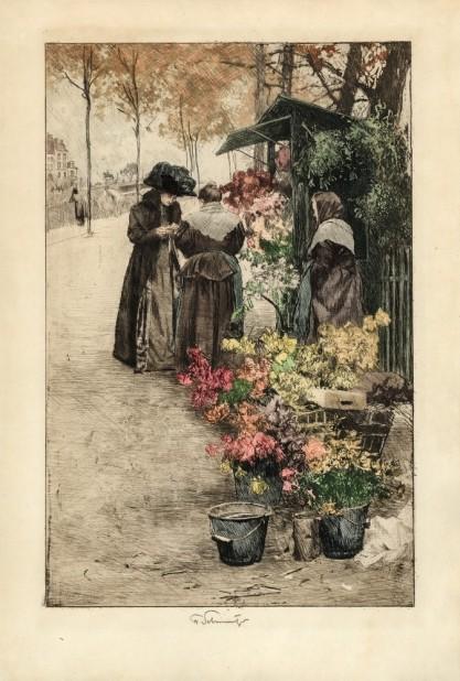 Ferdinard Schmutzer, Wiedeńska kwiaciarka