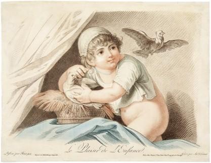 Jean-Baptiste-Marie  Huet, Augustin LEGRAND, Le Plaisir de l'Enfance [Rozkosze dzieciństwa]