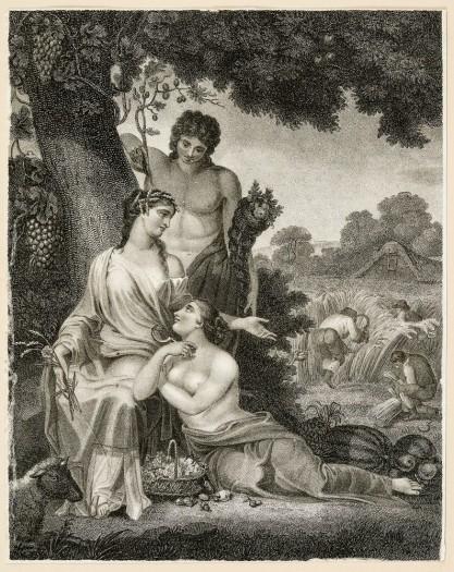 Henry Corbould, John Chapman, Alegoria ogrodnictwa i rolnictwa