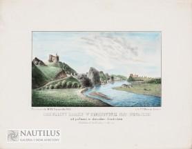 Rozwaliny zamku w Czorsztynie od północy w obwodzie Sandeckim, 1846