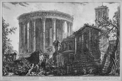 Giovanni Battista Piranesi, Veduta del tempio della Sibilla in Tivoli