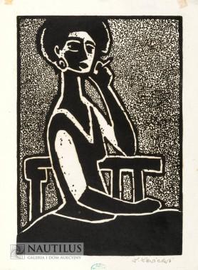 Kobieta z papierosem, lata 50. XX w.