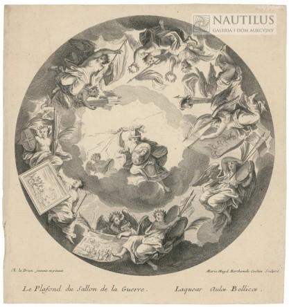 Charles Le Brun, Louise Magdeleine Horthemels Cochin, Le Plafond du sallon de la Guerre - Laquear Aulae Bellicae [Sufit sa...