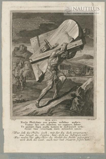 Christoph Weigel der Elder, Caspar Luyken, Samson dźwigający wrota do miasta