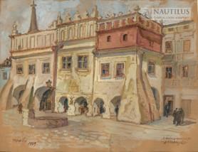 Tarnów. Kamienice podcieniowe na Rynku, 1949