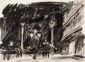 Wenecja. Piazzetta nocą, 1928