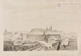 Widok na Wawel z wieży ratuszowej, 1927