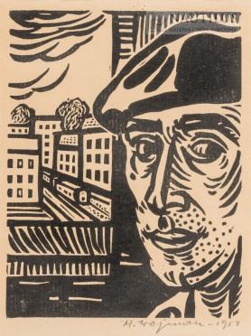 Autoportret w pracowni, 1959