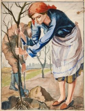 Sadzenie drzewek, 1930