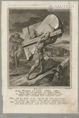 Samson dźwigający wrota do miasta, 1708