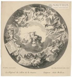 Le Plafond du sallon de la Guerre - Laquear Aulae Bellicae [Sufit salonu wojny], 1720