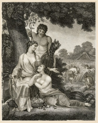 Henry Corbould, Alegoria ogrodnictwa i rolnictwa