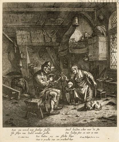 Gerrit Lucas  van Hagen, Chłopska rodzina przędząca wełnę