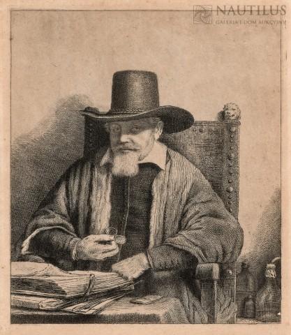 Rembrandt , Portret Arnouta Tholinx według Rembrandta van Rijn