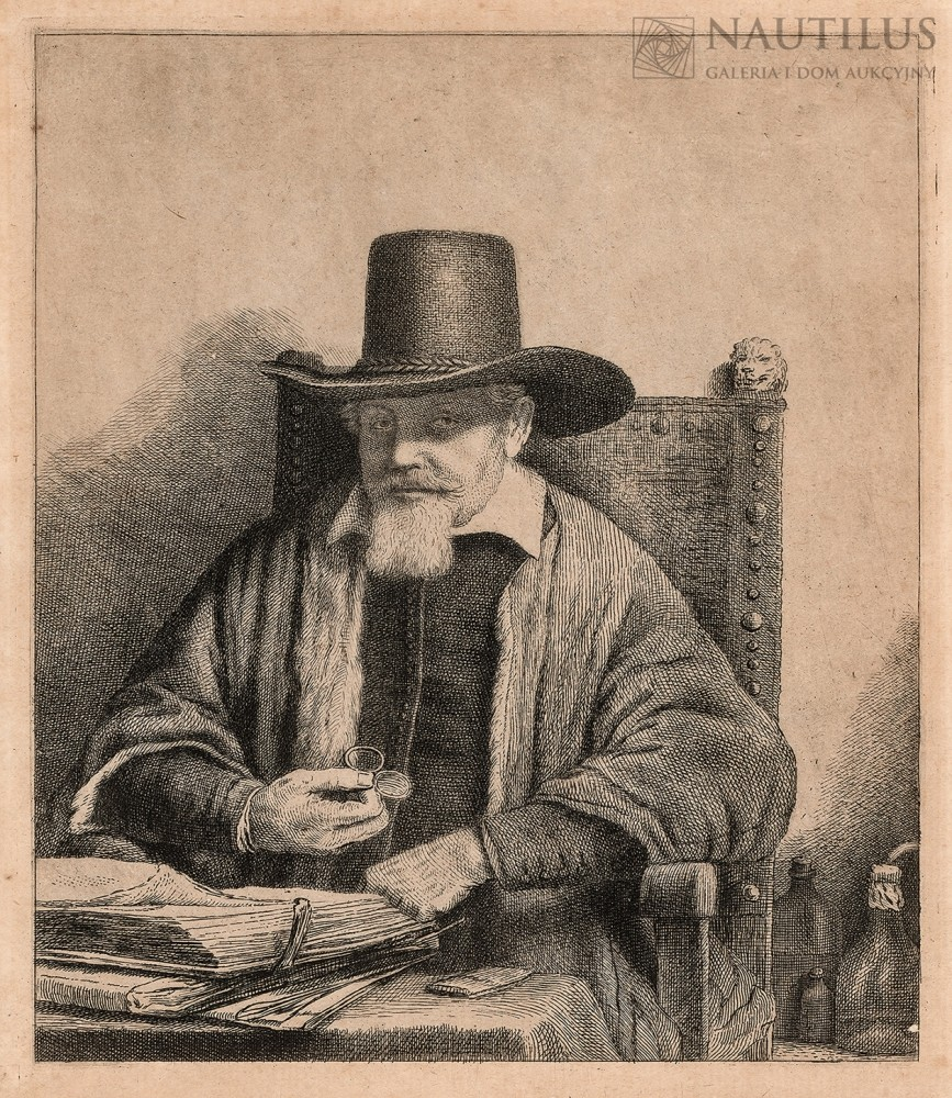 Portret Arnouta Tholinx według Rembrandta van Rijn