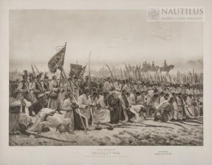 Józef Chełmoński, Modlitwa [Przed bitwą pod Racławicami]