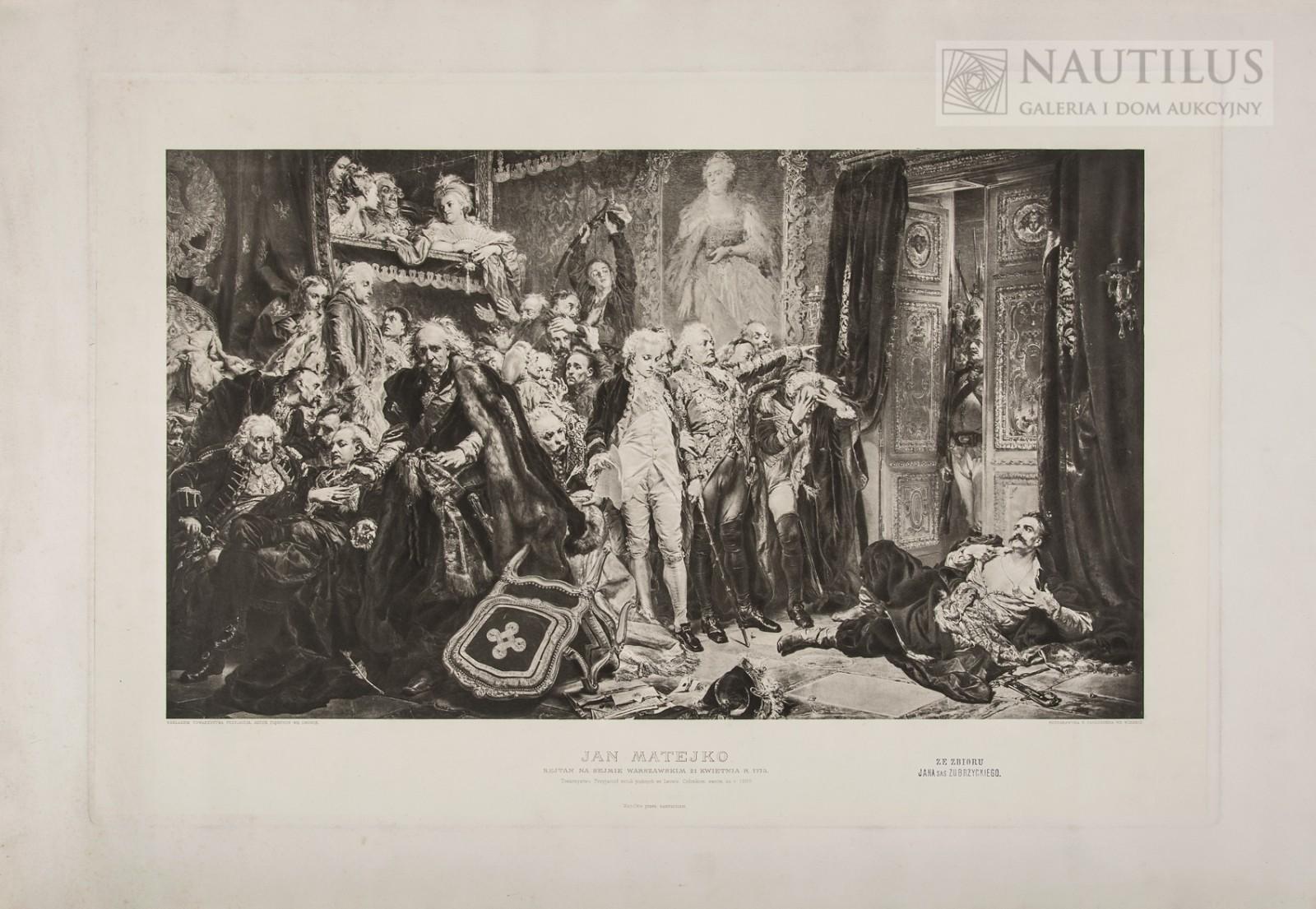 Rejtan na Sejmie Warszawskim 21 kwietnia 1773