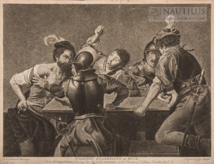 Captain William Baillie, Żołnierze grający w kości [Soldiers quarrelling at Dice]