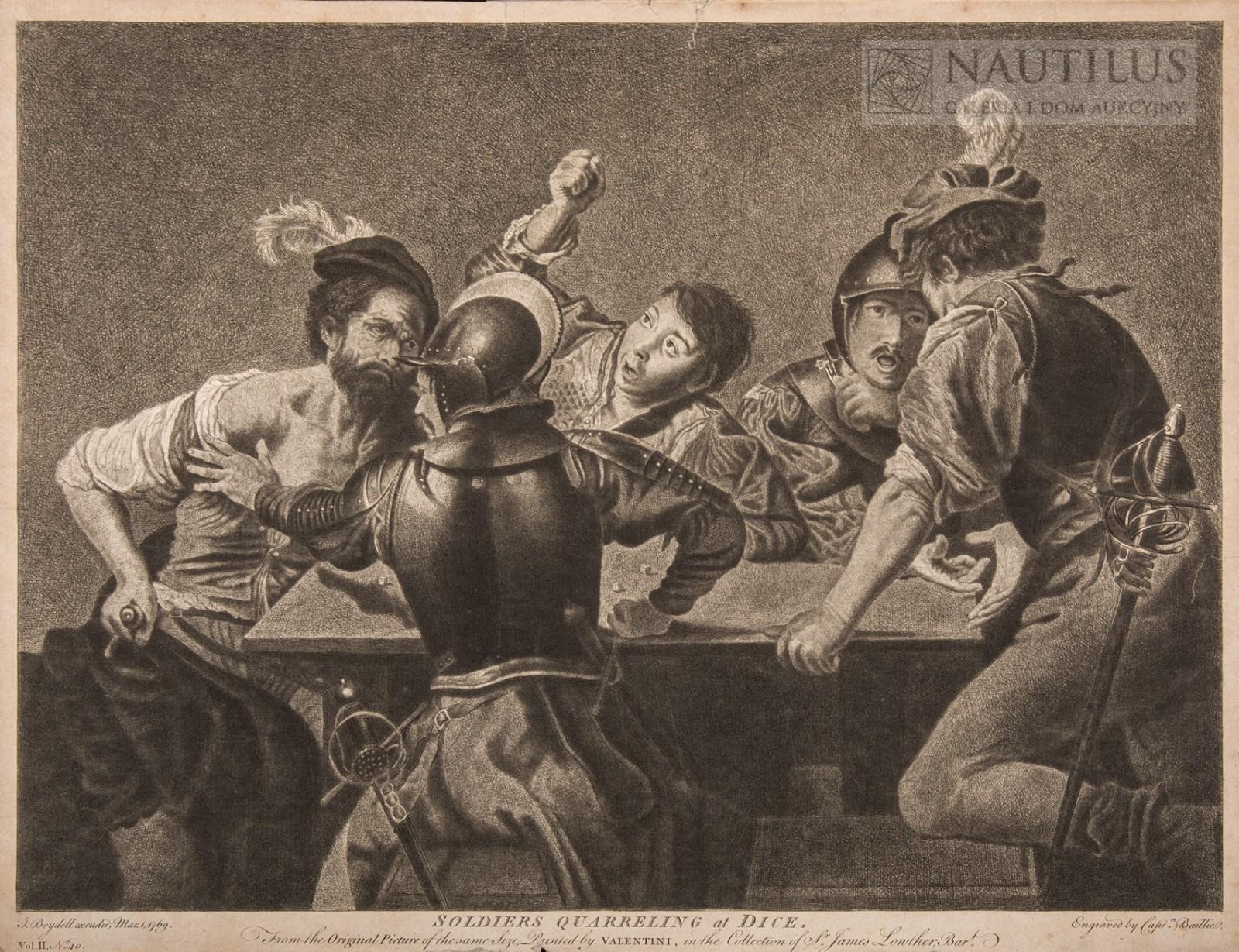 Żołnierze grający w kości [Soldiers quarrelling at Dice]