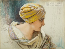 Portret kobiety w turbanie [Odaliska], początek XX wieku