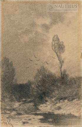 Pejzaż, koniec XIX wieku