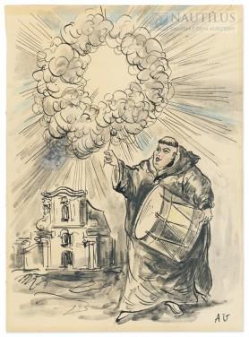 Mnich z bębnem, 1954