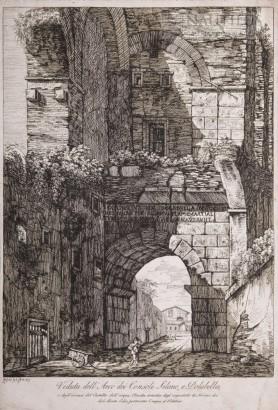 Veduta dell'Arco dei Consoli Silano e Dolabella, 1817
