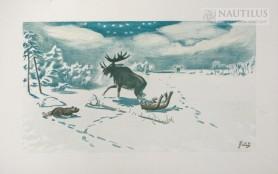Wilki polujące na łosia, 1919 - 1920