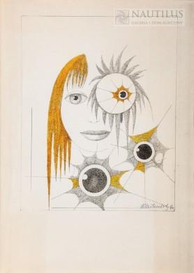 Kompozycja z portretem, 1990