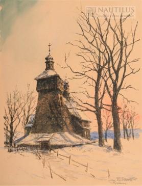 Kościół drewniany w Ruptawie, lata 30. XX wieku