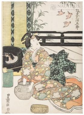 Scena z Teatru Kabuki, przed 1845