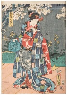 Scena z Teatru Kabuki, 1854