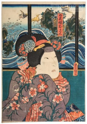 Scena z Teatru Kabuki, 1847 - 1853