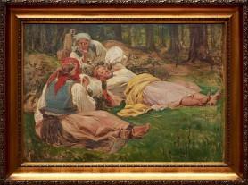 Odpoczynek żniwiarek, lata 20. XX wieku