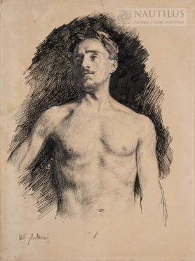 Półakt męski, 1882 - 1884