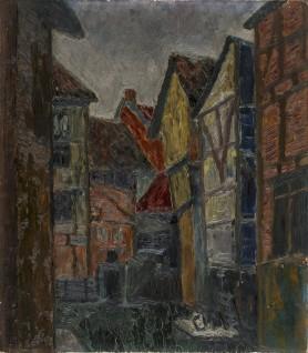 Pejzaż miejski (Portret kobiety), lata 20. XX wieku
