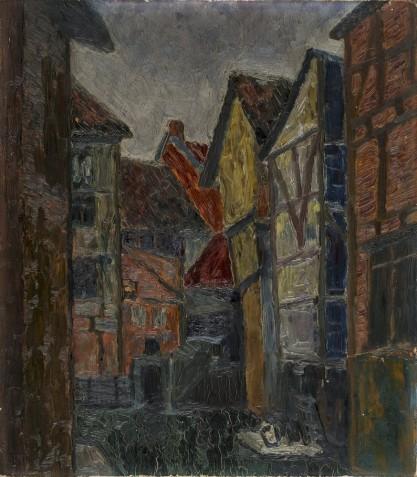Pejzaż miejski (Portret kobiety)