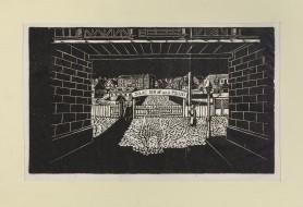 """Brama do getta, z cyklu """"Getto lwowskie"""", 1948"""
