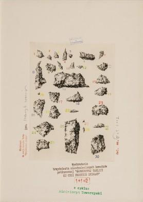 """Wyobrażenie trzydziestu nieodnalezionych kawałków… (z cyklu """"Miedzioryt towarzyski""""), 2001"""