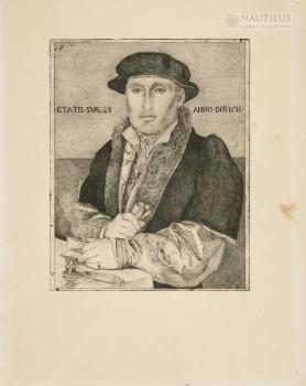 Autoportret według obrazu Hansa Holbeina, 1934