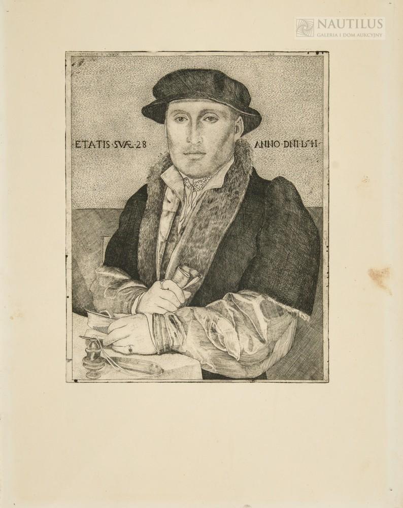 Autoportret według obrazu Hansa Holbeina