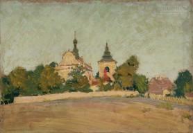 Widok na kościół św. Piotra i Pawła w Sandomierzu, 1923