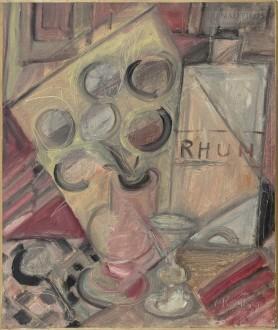 Martwa natura z butelką rumu, 1938
