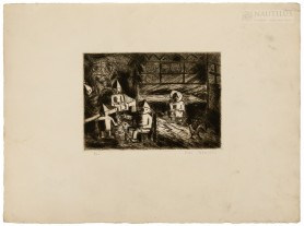 Mała rodzinka (La Petite Famille). Wnętrze, ok. 1929