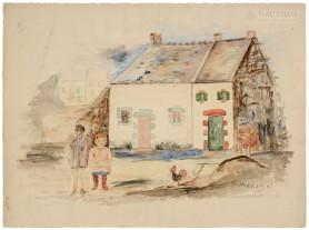 Dzieci na podwórku, ok. 1932