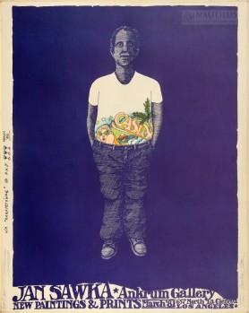 Plakat wystawy malarstwa i grafiki w Ankrum Gallery, Los Angeles , 1980