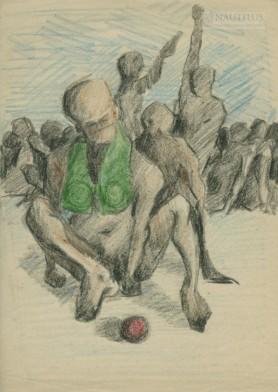 Gra w kulę (Kompozycja z postaciami), 1960 - 1970